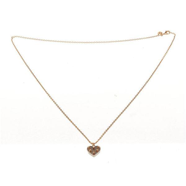 Louis Vuitton Gold Studded Heart Necklace