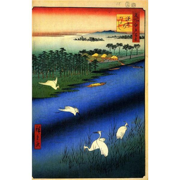 Hiroshige  - Sakasai Ferry