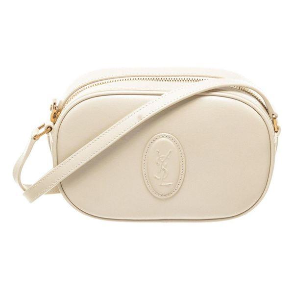 Yves Saint Laurent White Leather Crossbody Bag