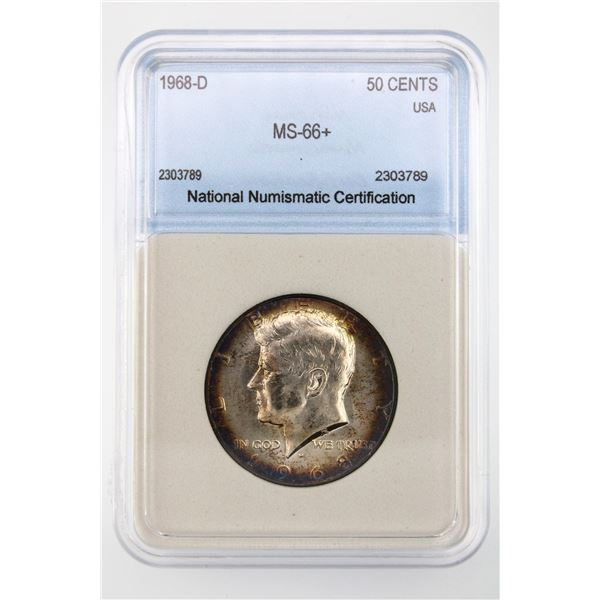 1968-D Kennedy Half Dollar NNC MS-66+