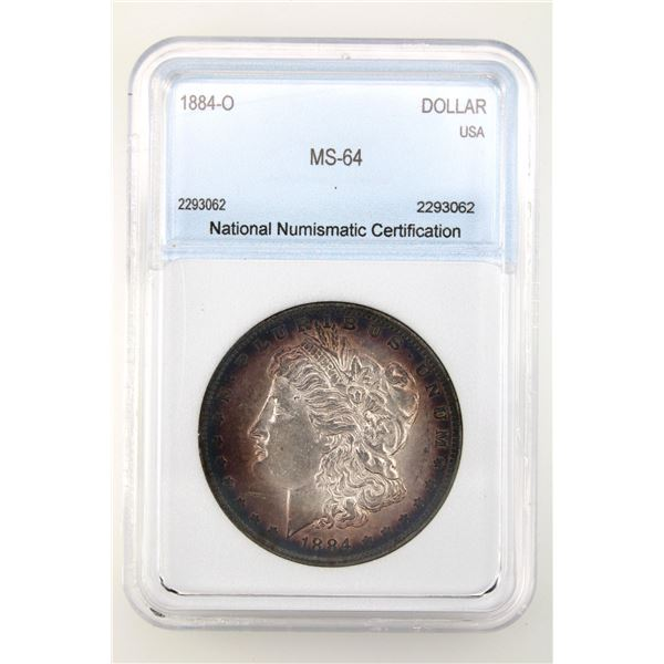 1884-O Morgan Silver Dollar NNC MS-64  Price Guide $150 EXCELLENT TONING!!
