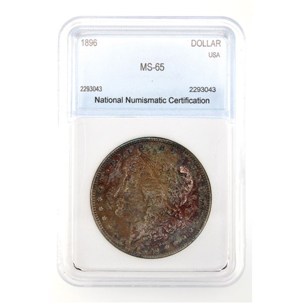 1896 Morgan Silver Dollar NNC MS-65  Price Guide $230 INCREDIBLE TONING!!