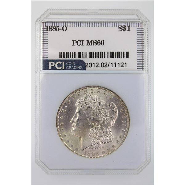 1885-O Morgan Silver Dollar PCI MS-66  Price Guide $350 VERY NICE AND LUSTROUS!!