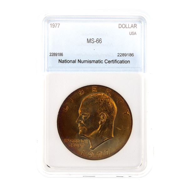 1977 Ike Dollar NNC MS-66  Price Guide $85