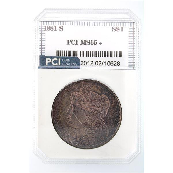 1881-S Morgan Silver Dollar PCI MS-65   Price Guide $285 NICE DARK TONING!!