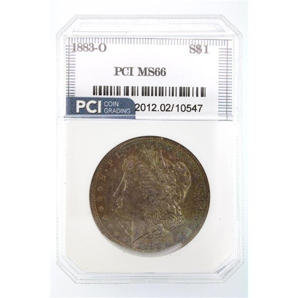 1883-O Morgan Silver Dollar PCI MS-66  Price Guide $450 AWESOME TONING!!