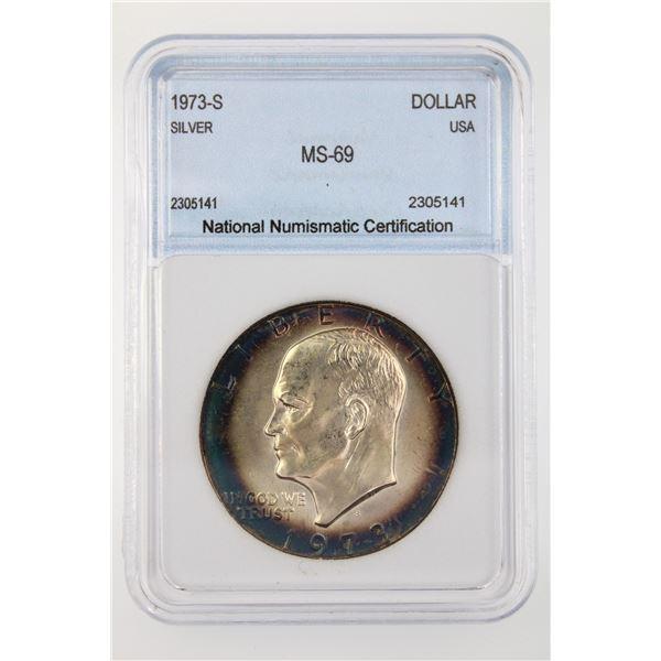 1973-S Ike Dollar NNC MS-69
