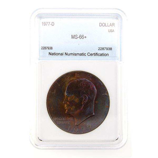 1977-D Ike Dollar NNC MS-66+