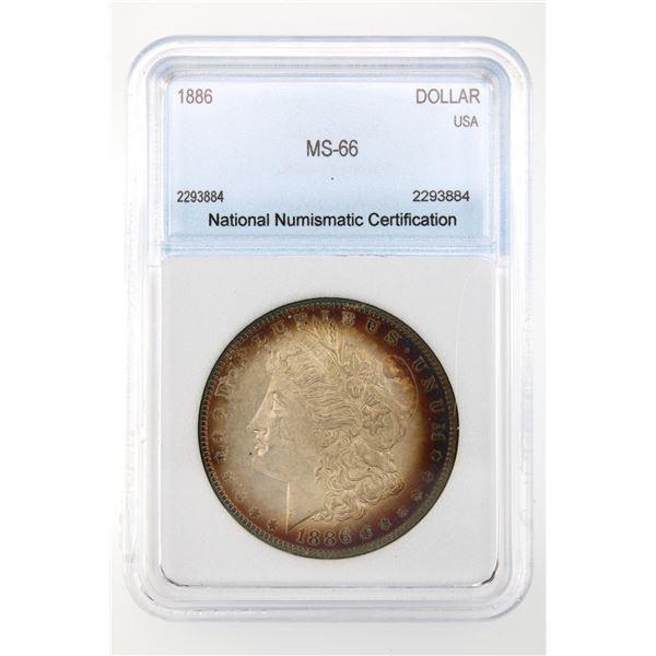 1886 Morgan Silver Dollar  NNC MS-66  Price Guide $375 IMPRESSIVE TONING!!