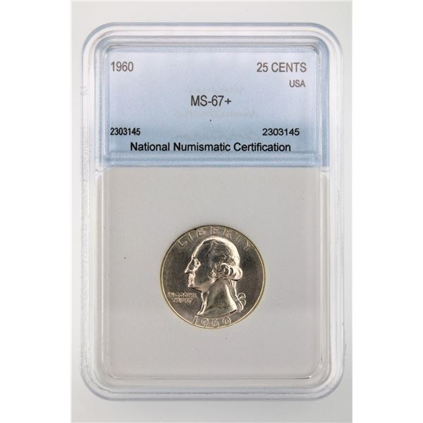 1960 Washington Quarter NNC MS-67+ Price Guide  $10000