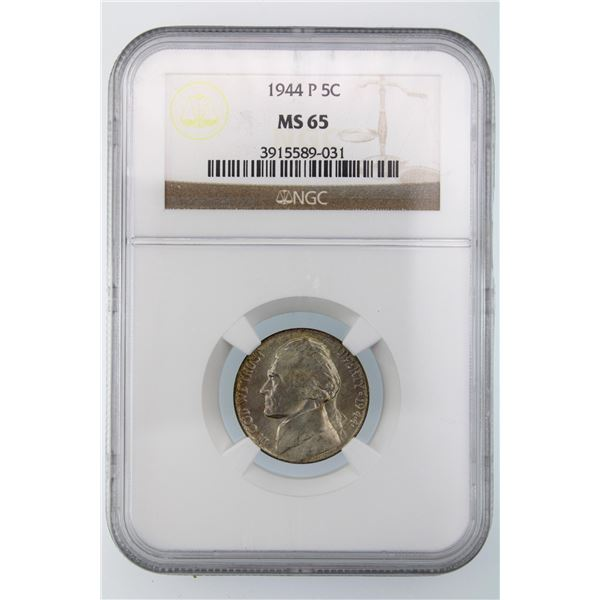 1944-P Jefferson Nickel NGC MS-65