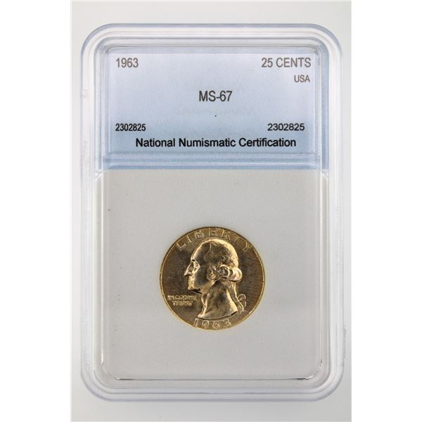 1963 Washington Quarter NNC MS-67  Price Guide $1000