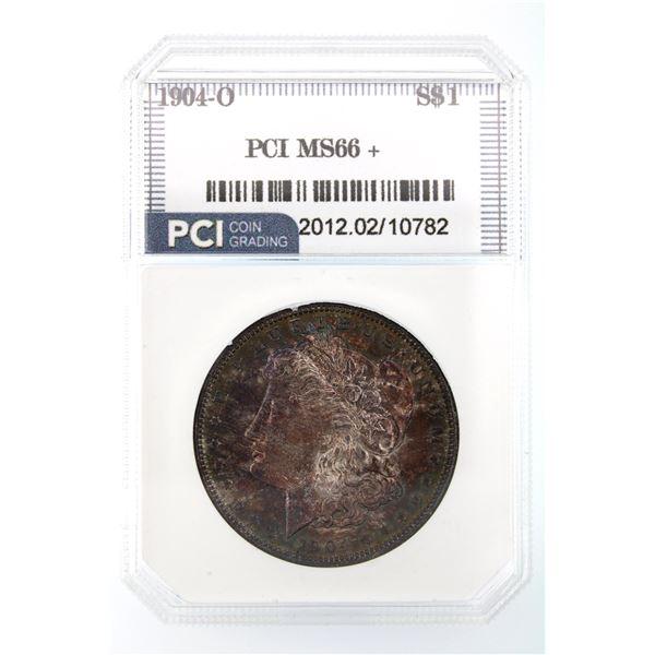 1904-O Morgan Silver Dollar PCI MS-66   Price Guide $700 INCREDIBLE TONING!!