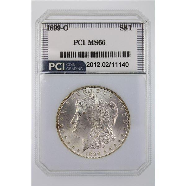 1899-O Morgan Silver Dollar PCI MS-66  Price Guide $400 Original Surfaces STUNNING COIN!