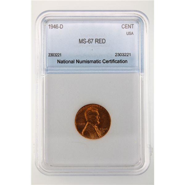 1946-D Lincoln Cent NNC MS-67 Red
