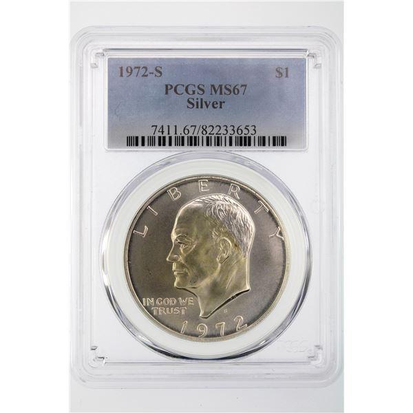 1972-S Ike Dollar PCGS MS-67 Silver