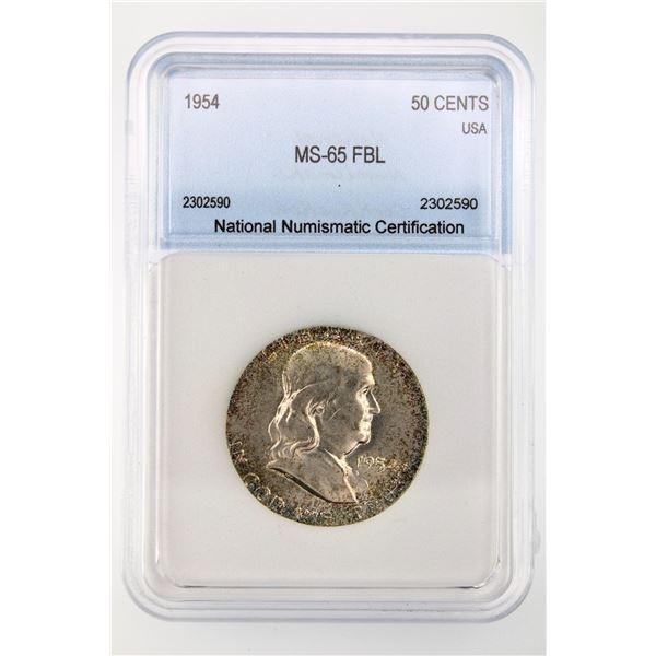 1954 Franklin Half Dollar NNC MS-65 FBL