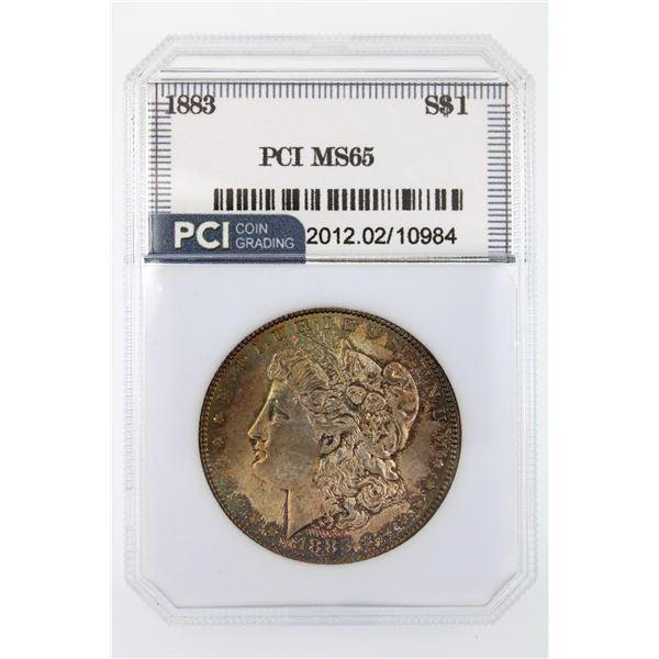 1883 Morgan Silver Dollar PCI MS-65  Price Guide $275 FABULOUS TONING!!