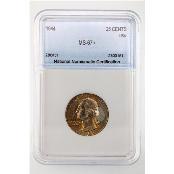 1944 Washington Quarter NNC MS-67+  Price Guide $2500