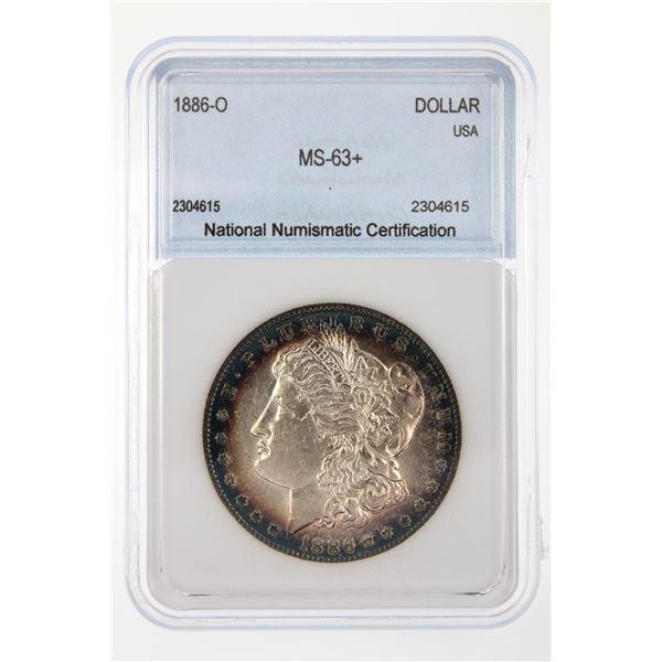 1886-O Morgan Silver Dollar NNC MS-63   Price Guide $4500 INCREDIBLE TONING!!