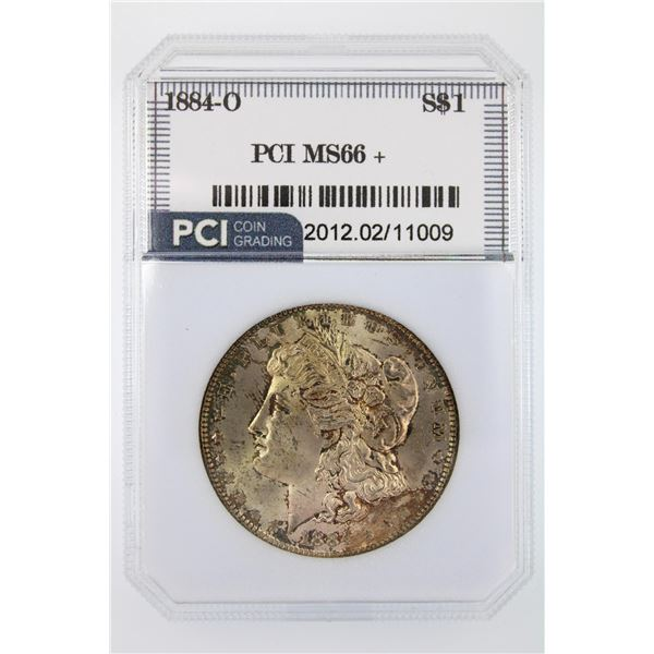 1884-O Morgan Silver Dollar PCI MS-66   Price Guide $550 VERY LUSTROUS W/ NICE TONING!!