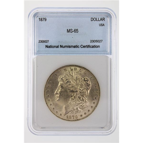 1879 Morgan Silver Dollar NNC MS-65   Price Guide $625 VERY NICE W/ SOFT TONING!!