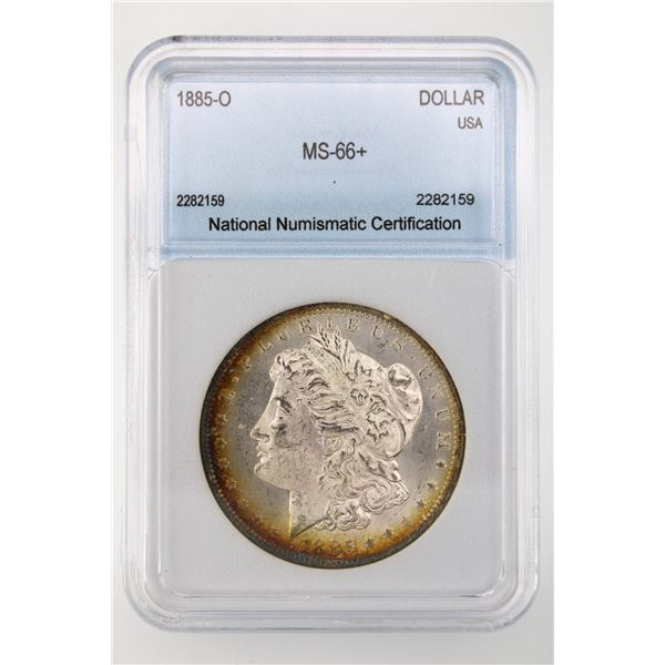 1885-O Morgan Silver Dollar NNC MS-66   Price Guide $700 EXCELLENT TONING!!