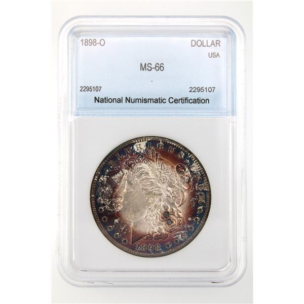 1898-O Morgan Silver Dollar NNC MS-66  Price Guide $375 STUNNING COLOR!!