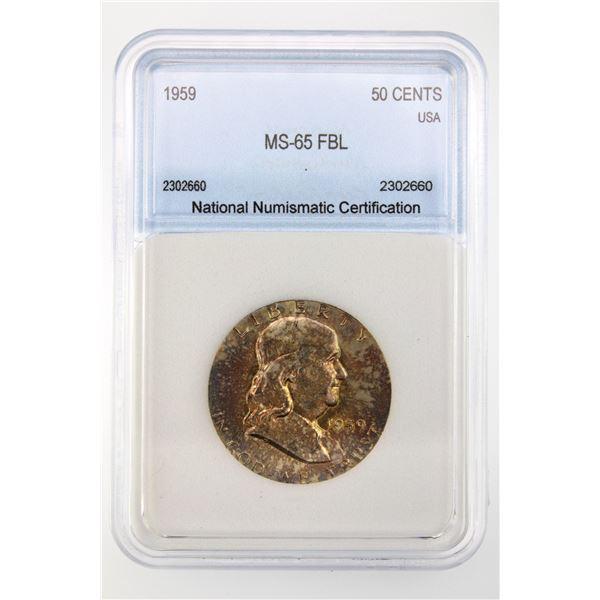 1959 Franklin Half Dollar NNC MS-65 FBL
