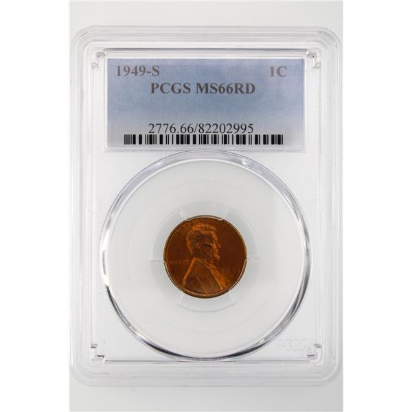 1949-S  Lincoln Cent PCGS MS-66 RD