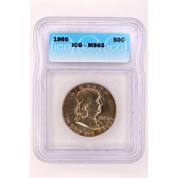 1960 Franklin Half Dollar ICG MS-65