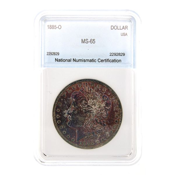 1885-O Morgan Silver Dollar NNC MS-65  Price Guide $230 AWESOME COLOR!!