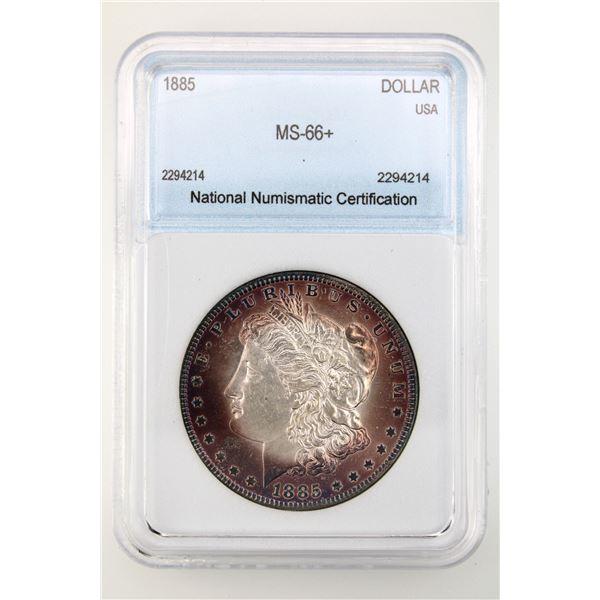 1885 Morgan Silver Dollar NNC MS-66   Price Guide $625 IMPRESSIVE TONING!!