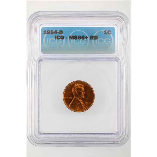 1954-D Lincoln Cent ICG MS-66+ Red