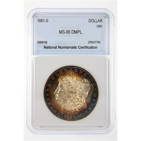 1881-S Morgan Silver Dollar NNC MS-66 DMPL Price Guide $2200 FABULOUS COLOR!!