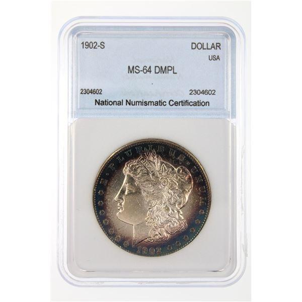 1902-S Morgan Silver Dollar NNC MS-64 DMPL FANTASTIC TONING!!