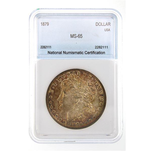 1879 Morgan Silver Dollar NNC MS-65  Price Guide $625 VERY NICE TONING!!