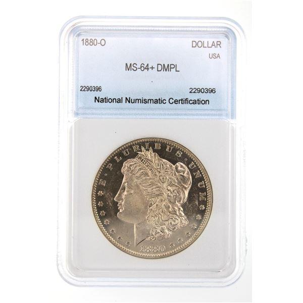 1880-O Morgan Silver Dollar NNC MS-64  DMPL Price Guide $26500 BEAUTIFUL W/ AMAZING DEEP MIRRORS!!