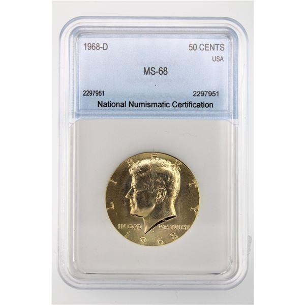 1968-D Kennedy Half Dollar NNC MS-68