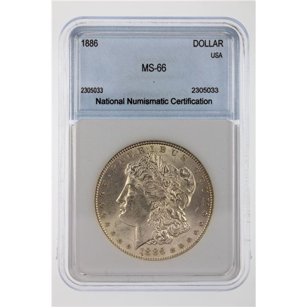 1886 Morgan Silver Dollar NNC MS-66  Price Guide $375 SHARP STRIKE AND LUSTROUS!!