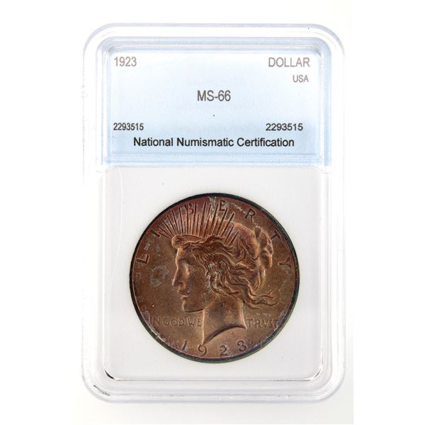 1923 Peace Dollar NNC MS-66  Price Guide $450
