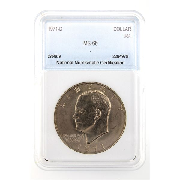 1971-D Ike Silver Dollar NNC MS-66