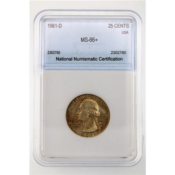 1961-D Washington Quarter NNC MS-66+  Price Guide $200