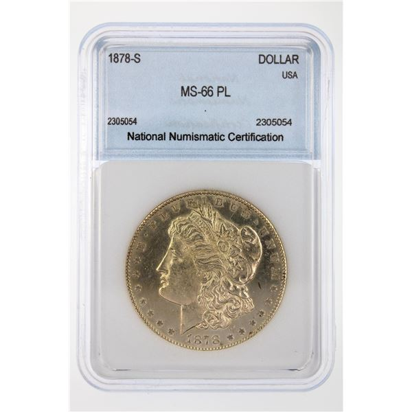 1878-S Morgan Silver Dollar NNC MS-66 PL Price Guide $3450 BEAUTIFUL W/ STRONG STRIKE!!