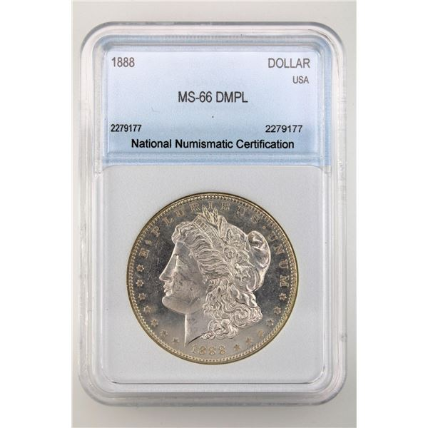 1888 Morgan Silver Dollar NNC MS-66 DMPL Price Guide $9500 FROSTY W/ EXCEPTIONAL DEEP MIRRORS!!