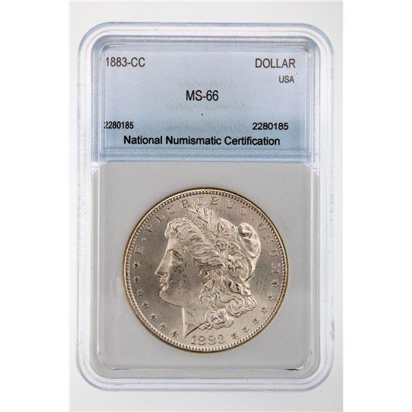1883-CC Morgan Silver Dollar NNC MS-66  Price Guide $1150 BEAUTIFUL W/ SOFT TONING!!