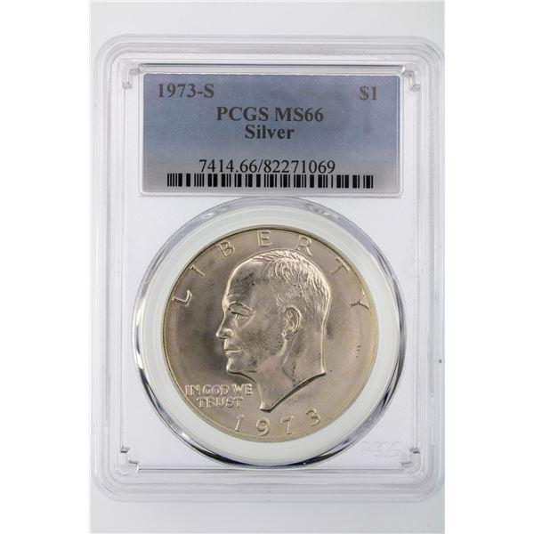 1973-S Ike Dollar PCGS MS-66 Silver