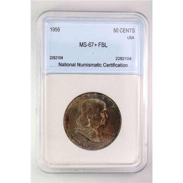 1956 Franklin Half Dollar NNC MS-67+ FBL Price Guide $10250