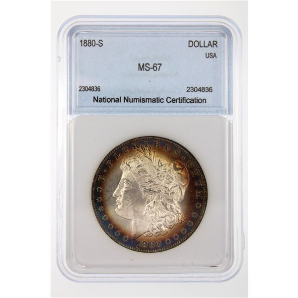 1880-S Morgan Silver Dollar NNC MS-67  Price Guide $1000 WONDERFUL TONING!!