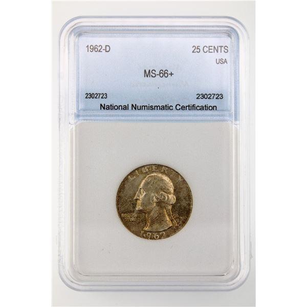 1962-D Washington Quarter NNC MS-66+ Price Guide  $425